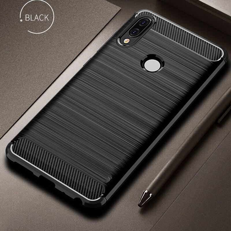 Huawei P20 Lite Copertura Della Cassa Antiurto In Fibra di Carbonio Del Respingente Rugged TPU Silcone Copertura di Caso Della Protezione Per Huawei P20 Lite/ pro