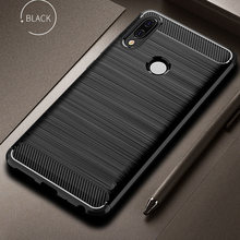 For Huawei P20 Lite Case Cover Shockproof Carbon Fiber Bumper Rugged TPU Silcone Protector Case Cover For Huawei P20 Lite/Pro(China)