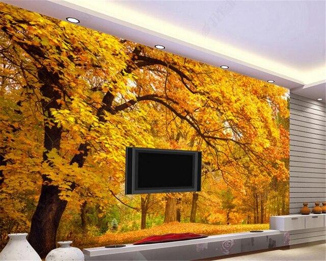 Pareti Doro : Beibehang 3d carta da parati viale doro deck tv divano del