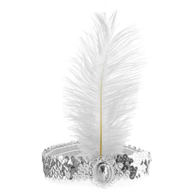 เลื่อม Feather แถบคาดศีรษะยืดหยุ่นอุปกรณ์เสริมเครื่องประดับแฟนซีเครื่องแต่งกาย