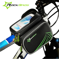 ROCKBROS Bike Accessories Waterproof Touch Screen Bike Bag Cycling Smart Phone Reflective Bicycle Bags Front Tube