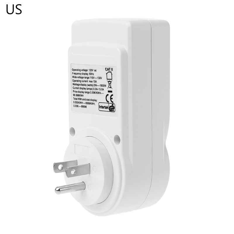Digital Power Meter Socket EU/US/UK Plug Energy Meter Current Voltage Watt Electricity Cost Measuring Monitor Power Analyzer Ele
