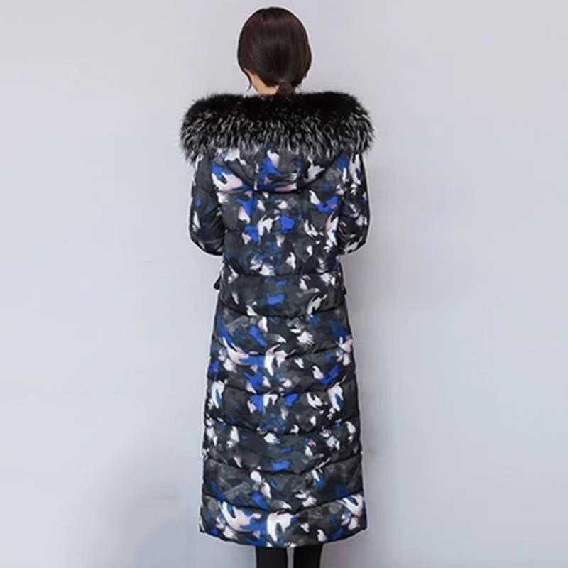 Parka Col Femmes 1 Camouflage Mujer F636 3 À 2018 2 Veste Fourrure Chaqueta Avec Coton Lady Longue Manteau De Chaud noir Capuchon Hiver Élégant 4qr7Cx4wv