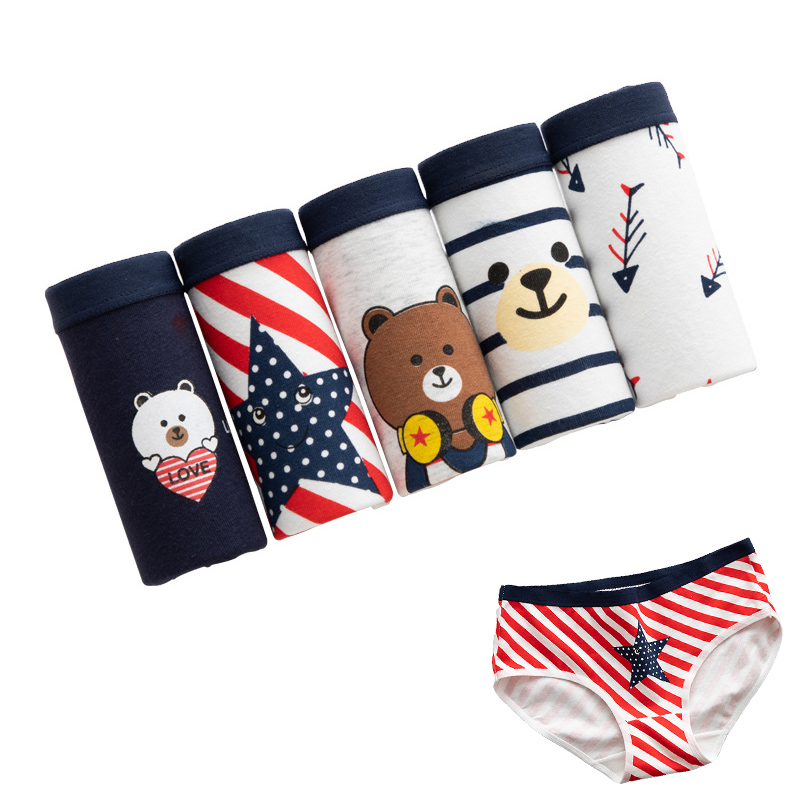 5pcs/lot Underwear Women Cotton Panties Ladies Sexy Briefs Printing Panty String Underpants For Women Lace Calcinhas Girl Shorts