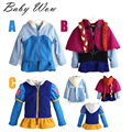 New Anna Elsa Costume Kids Autumn Cute Cartoon Outwear Baby Kids Clothing Casual Outfits Hooded Jackets For Children tyh-40369