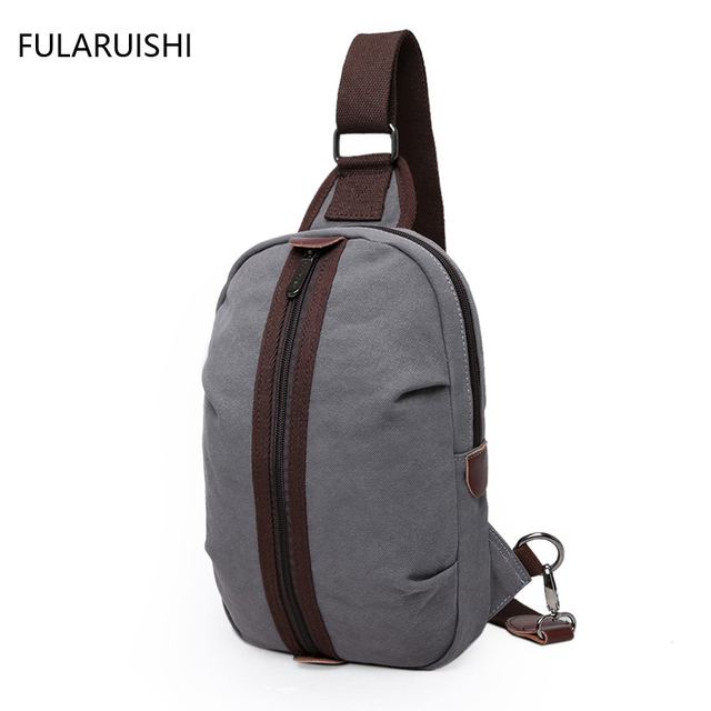New Men S Shoulder Pouch Sling Bag Male Vintage Canvas Crossbody Bags Small Chest Pack Travel
