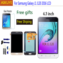 AMOLED J120 lcd For Samsung Galaxy J1 2016 J120 lcd J120F J120M J120H LCD Display Touch Screen Digitizer Assembly Replacement цена