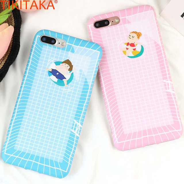 Summer Swimming Pool Cell Phone Case For iPhone 6 6s 6 Plus 6s Plus IMDTPU  Back Covers Cute Cool Swimming Carcasas For iPhone 6s-in Fitted Cases from