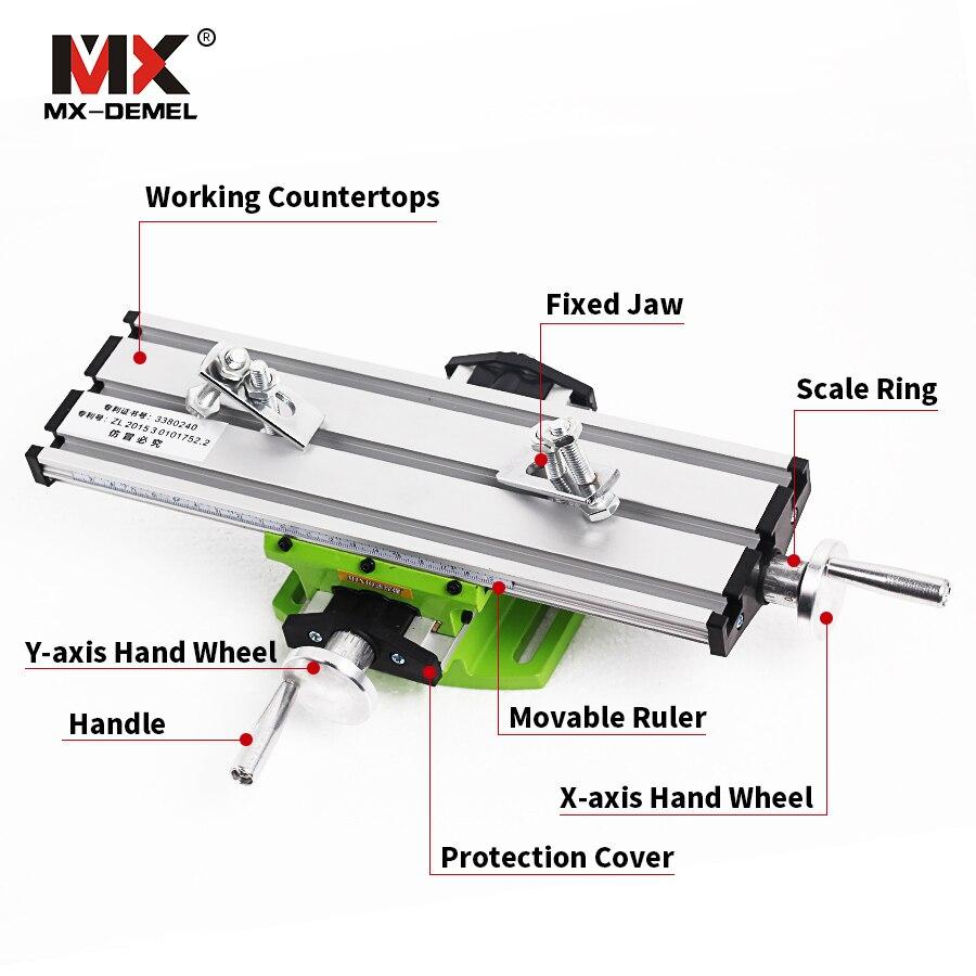 Miniatur Präzision Multifunktions Fräsen Maschine Bench Bohrer Schraubstock Leuchte Arbeitstisch X Y-Achse Einstellung Koordinieren Tisch Bohrer