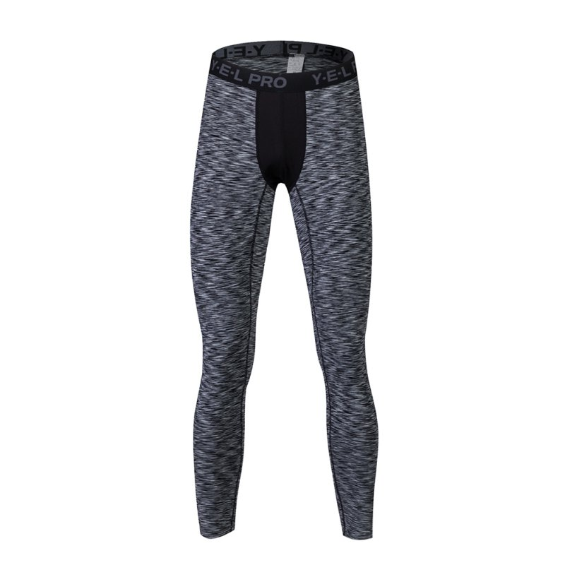 2018New Men Compression Pants Bodybuilding Fitness Skinny Leggings Tights Pants Compression Running Pants Clothing
