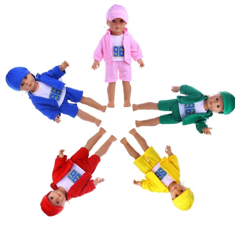 1 комплект для новорожденных одежда подходит 18in куклы значение костюм спортивный кукла детская одежда Best подарки