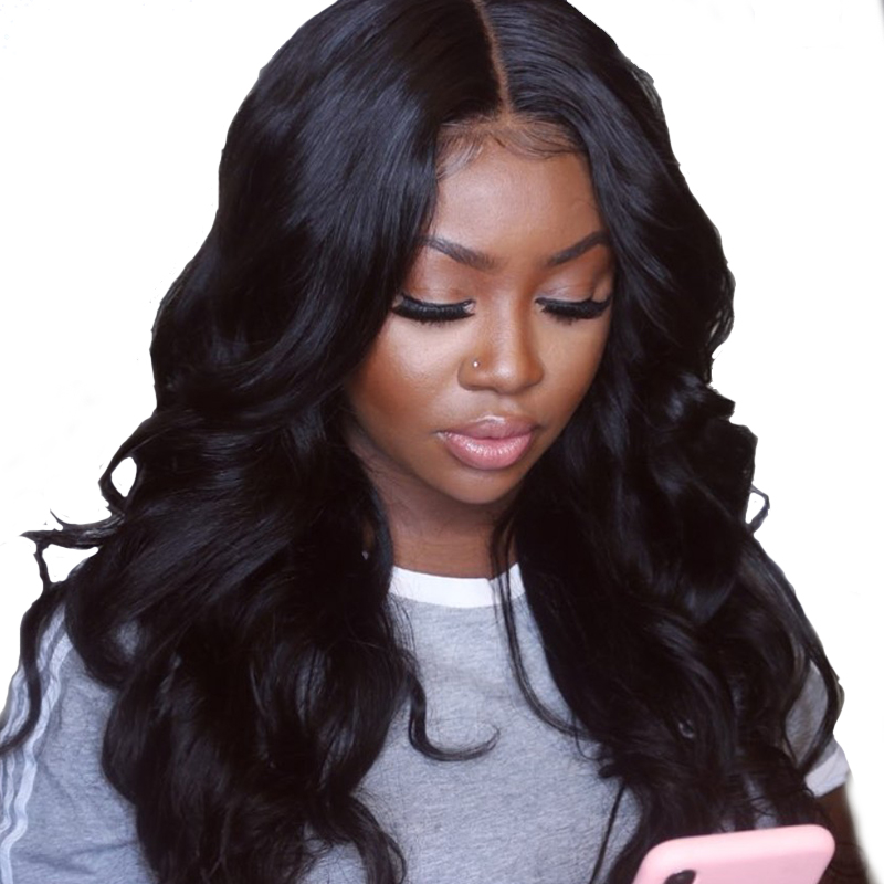 180 Silk Base Full Lace Wigs With Baby Hair Pre Plucked Brazilian Body Wave Wigs With