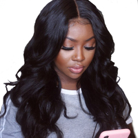 180% Silk Base Full Lace Wigs With Baby Hair Pre Plucked Brazilian Body Wave Wigs With 4X4 Silk Base Closure You May Remy Hair
