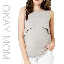 Nyári divat pamut Anyasági Nuring póló Szoptatás Top Tees Ruházat terhes nők Terhesség Nővér Wear 2017 Új