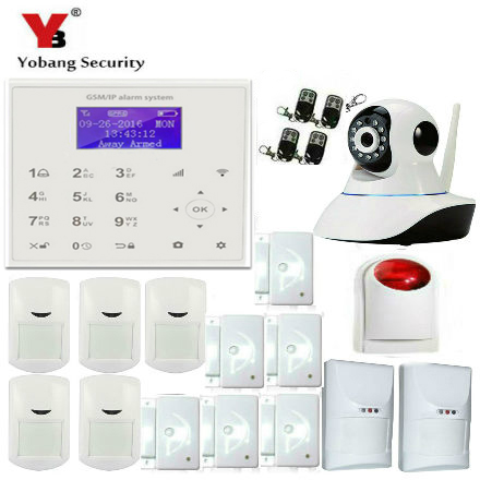 YobangSecurity WIFI GSM GPRS Autodial House Office Burglar Intruder Alarm Security System Wireless IP Camera Android IOS APP yobangsecurity home wifi gsm gprs rfid burglar alarm house business surveillance home security system wireless outdoor ip camera