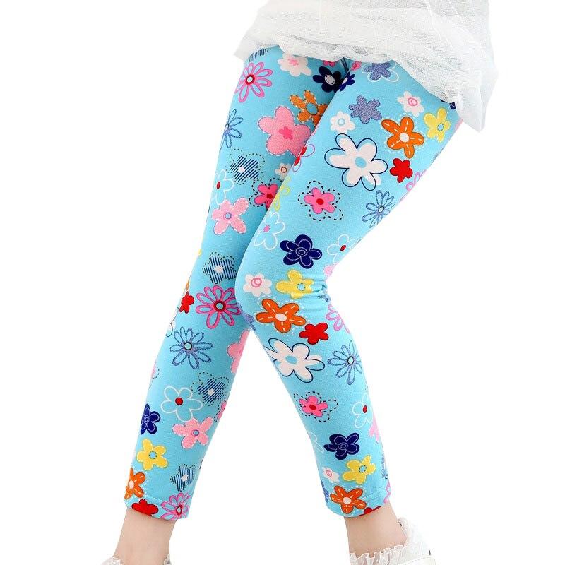 9182e91d80902 3pcs/lot Girls Leggings Children Pants Printed Flower Butterfly Girls Pants