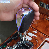 HOT Car accessories Gear Shift Knob Touch Sensor Colourful Car Logo LED Light For Ford mondeo kuga fiesta Focus2 3 ecosport mk4