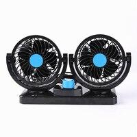 12 V/24 V Coche Ventilateur Mini Ventilador Silencioso Ventilador de Aire Acondicionado Portátil de 360 Grados de Rotación Ajustable de Aire Del Coche Ventilador Ventilador de refrigeración
