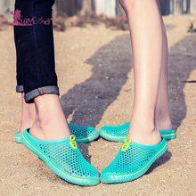 Lurehooker Summer Women Slippers Outdoor Breathable Beach slippers female Hollow indoor for girl boy home slipper