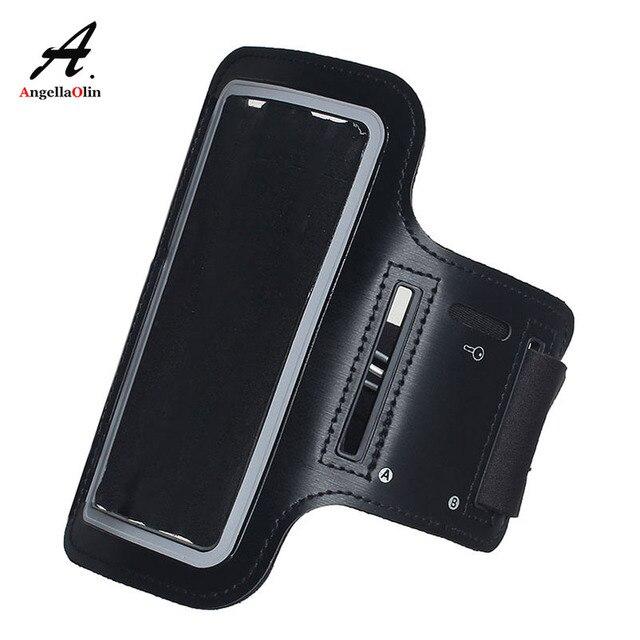Brazalete negro para Samsung galaxy A50 A60 A70 A90 A2 Core M40 A9s A10 A20 A30 A40 brazo banda correr funda de bolsa de pesca deportiva para gimnasio
