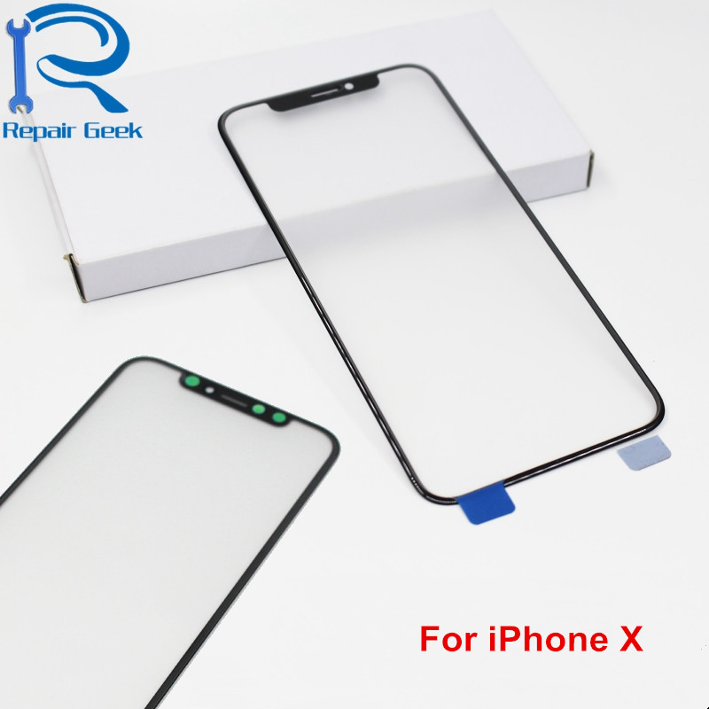 Front Screen Outer <font><b>Glass</b></font> For Apple <font><b>iPhone</b></font> <font><b>X</b></font> High Quality Touch Screen <font><b>Glass</b></font> Lens Replacement Parts image