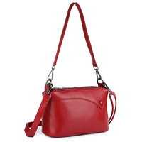 Genuine Leather Cross body Bag Multi function European And American Handbag Brand New Three Compartments Travelling Shoulder Bag