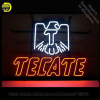 Neon Sign for Cerveza Tecate Neon Bulbs sign handcraft Real Glass tubes Decorate Garage Room light personalized electronic signs