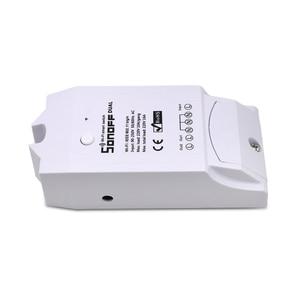 Image 4 - ITEAD SONOFF Dual 2CH 2 Gang Weg 10A 220V 16A 3500W WiFi Wireless Smart Switch Licht Fernbedienung DIY Timer Modul Alexa Hause