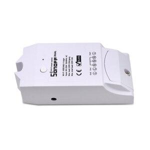 Image 4 - ITEAD SONOFF double 2CH 2 voies 10A 220V 16A 3500W WiFi sans fil interrupteur intelligent lumière télécommande bricolage minuterie Module Alexa maison