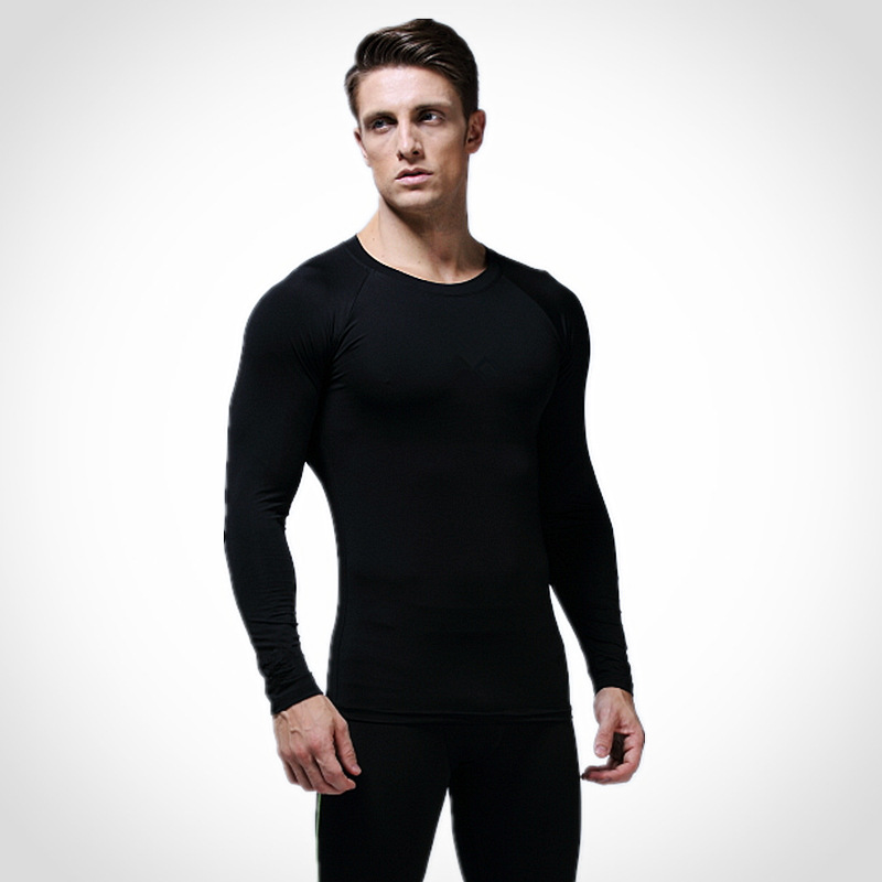 Compression Tights Base Layer Running Fitness Gym Exercise Soccer Basketball Men Sports Clothing Shirt Jersey Sportswear KA269
