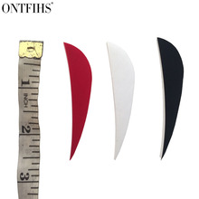 ONTFIHS 100PCS Archery Fletches Feather - 2.5inch Parabolic Natural Turkey Feathers Arrow fletching For Hunting Long Bow 36 pcs ontfihs new 2 5inch archery fletches feather parabolic stripe plume turkey feathers arrow fletching for hunting shooting