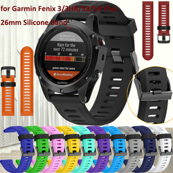 Correa de reloj de 26mm de ancho para Garmin Fenix 3 bandas de silicona para deportes al aire libre para Garmin Fenix 3HR/Fenix 5X con herramientas