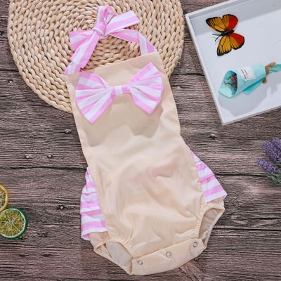 On Sale 2018 Summer Romper Bubble Romper Baby Onesie Newborn Girl 1St Birthday Pink Baby Girl Bows Boutique Baby Girl Jumpsuit