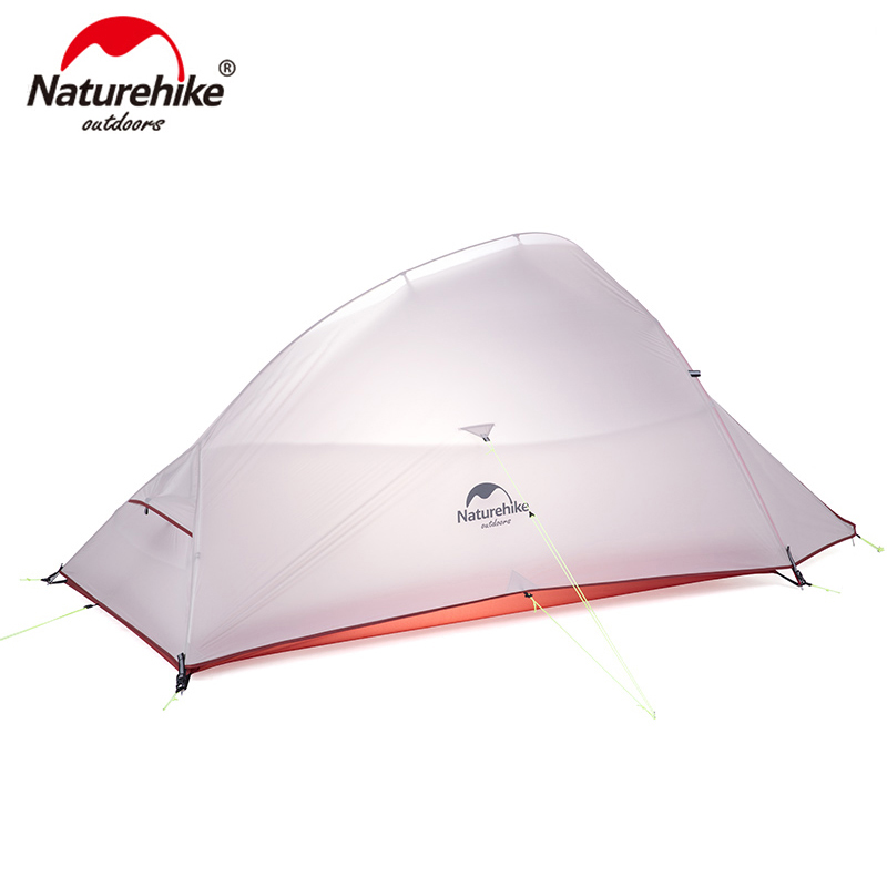 Naturehike Cloud Up Series Ultralight Camping Tent Waterproof Outdoor Hiking Tent 20D Nylon Backpacking Tent With Free Mat image
