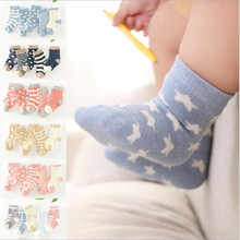 5Pairs/Lot Cute Star Kids Socks Cotton Soft Girls Socks Spring Autumn Infant Sock Photography Props Baby Boys Clothing 2017