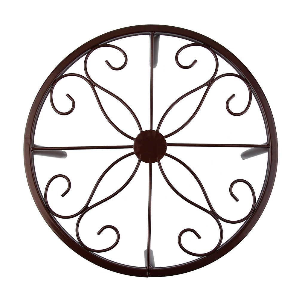 الزهرية الرف رف أحواض زهور تصميم المعادن بونساي بوعاء النبات الوقوف المنزلية غرفة الجلوس شرفة ديكور