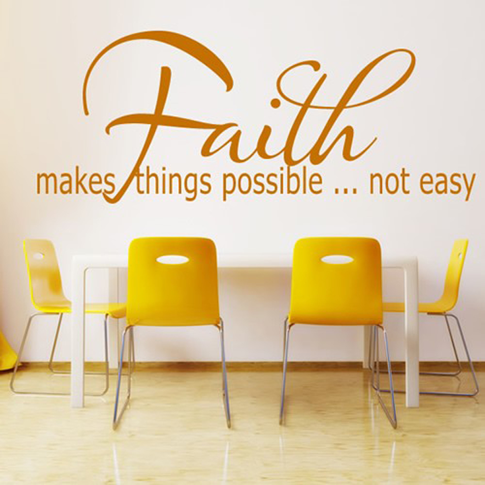 Christian Faith Makes Things Possible Vinyl Wall Sticker Wall Decals ...