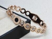 WLB0581 FreeShipping stainless steel bangles with white stone Fashion women Jewelry fashion bracelet, present wholesale