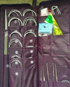 Image 5 - De doble punta un conjunto de 5 tejer agujas de ganchillo con gancho aguja Circular gancho costura herramienta para tejer 61155