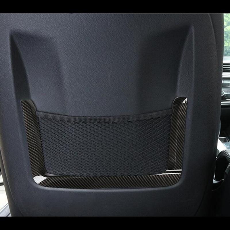 Carbon Fiber Color Seat Backrest Frame Decoration Cover Trim 2pcs For BMW 1 3 4 Series