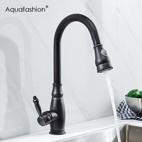 Antique Design Black Kitchen Faucet Pull Out Kitchen Sink Faucet Hot And Cold Water Kitchen Mixer
