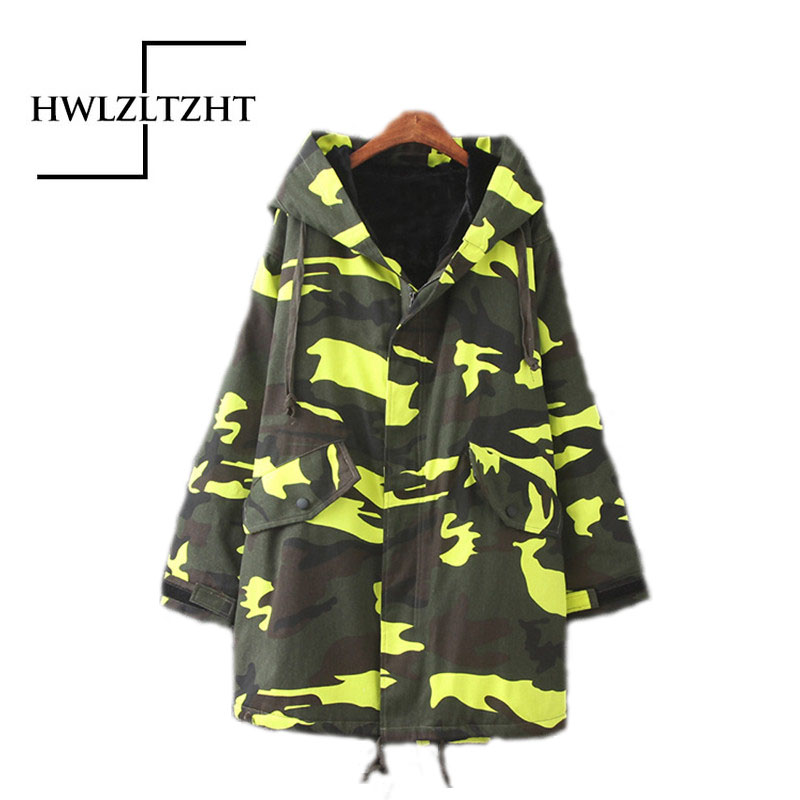 ФОТО Women Camou Flage Slim Winter Thickening Down Parka Coat Warm Long Plus Size Jacket Down Parka Coats Women