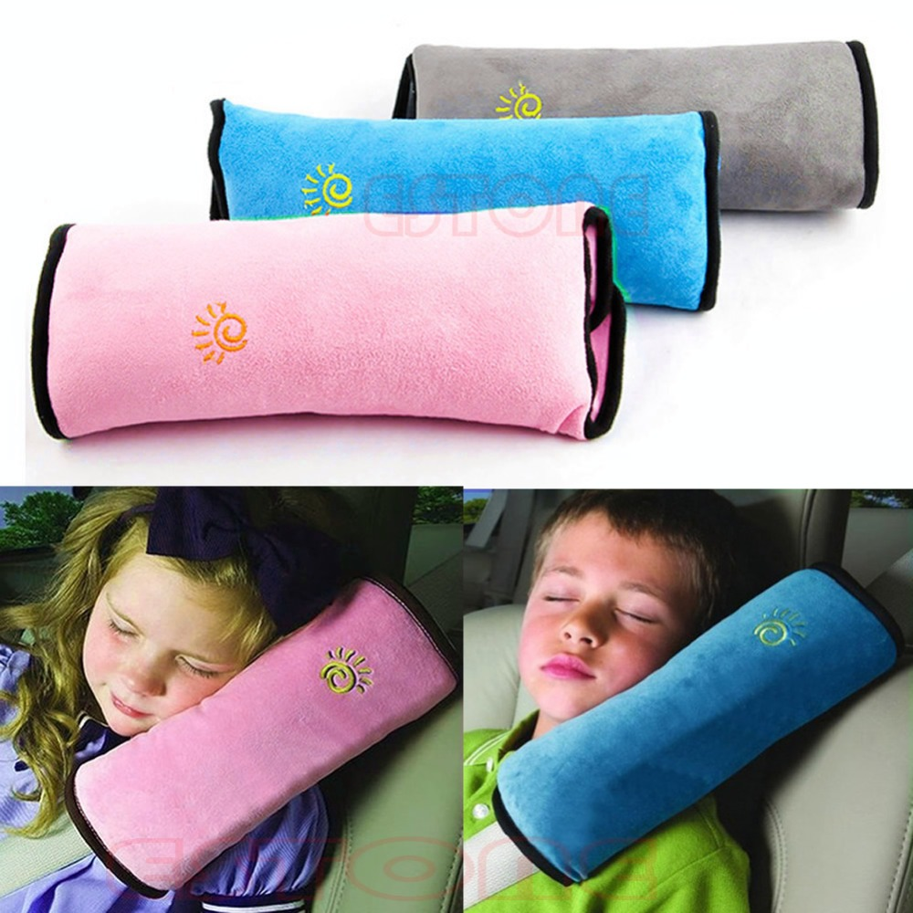 High Quality Kids Safety Strap Cover Baby Children Safety Strap Micro-suede Fabric Car Seat Belts Pillow Shoulder Protection