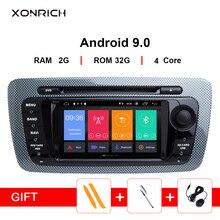 2 Din Android 9.0 Car Radio Multimedia For Seat Ibiza 6J MK4 SportCoupe Ecomotive Cupra 2009 2010 2011 2012 2013 GPS DVD 2+32GB