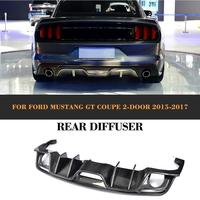 Carbon Fiber Rear Bumper Lip Diffuser for Ford Mustang Coupe Convertible 2 Door Only 15 17 USA Market FRP