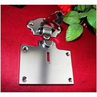 1Pcs 105*133mm,Silver Color Lock Metal Chest Gift Box Suitcase Case Buckles Toggle Hasp Latch Catch Clasp Furniture Hardware,