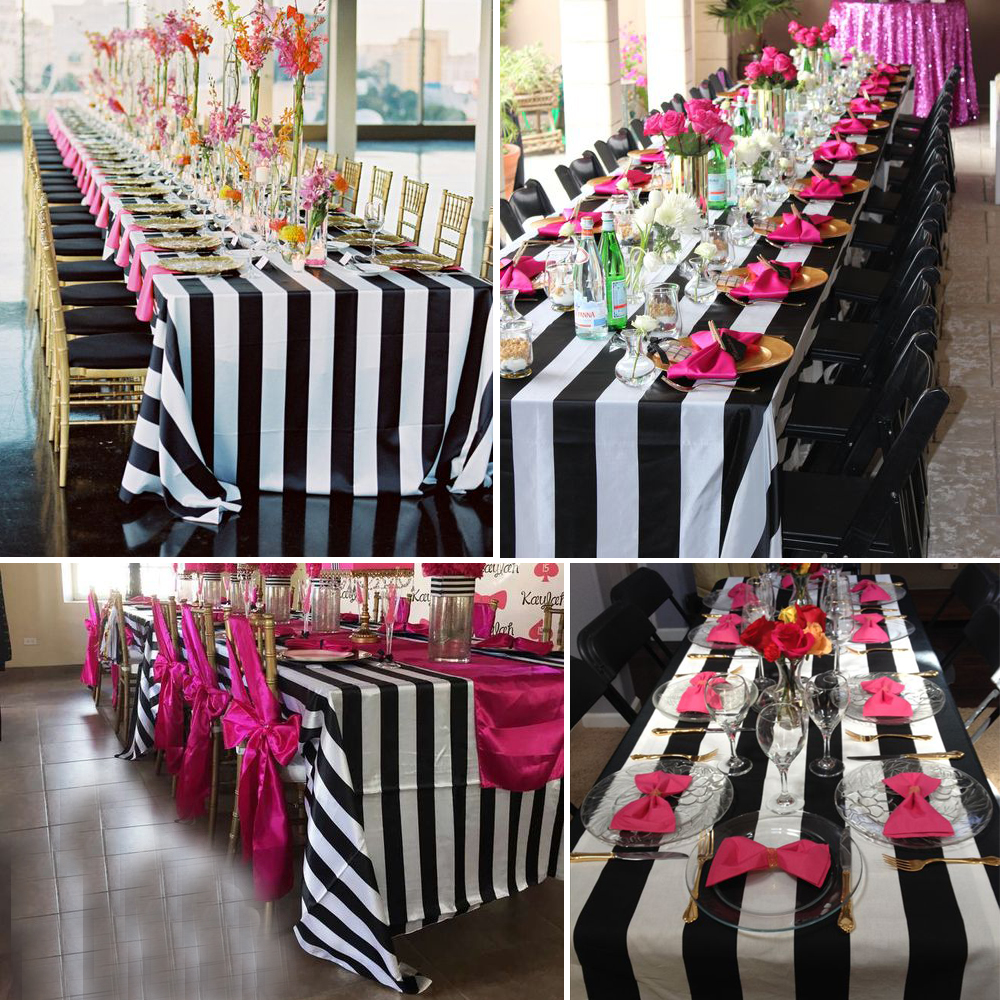 Black And White Striped Table Cloth For Wedding Table Centerpiece Home  Decor In Event U0026 Party From Home U0026 Garden On Aliexpress.com | Alibaba Group Part 59