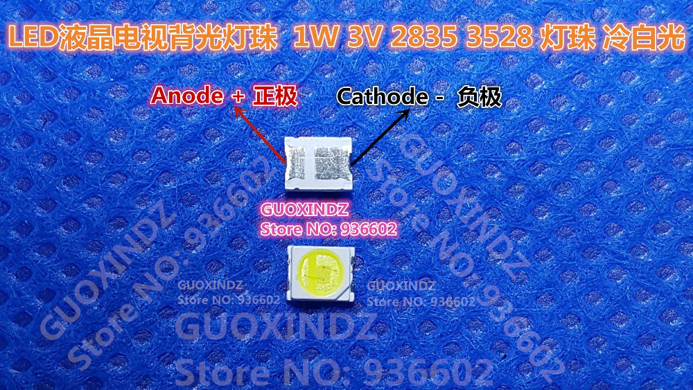 JUFEI    LED Backlight   1W   3V  1210  3528  2835  84LM  Cool white  LCD Backlight for TV   TV Application  01.JT.2835BPW1-C(China)
