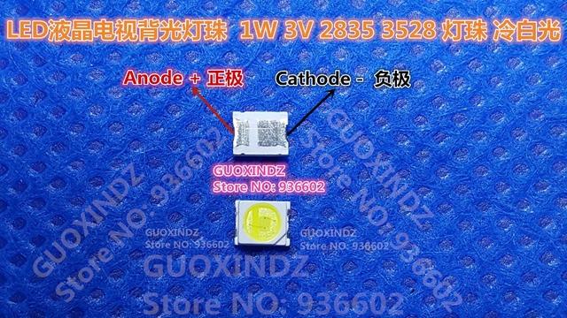 JUFEI    LED Backlight   1W   3V  1210  3528  2835  84LM  Cool white  LCD Backlight for TV   TV Application  01.JT.2835BPW1 C