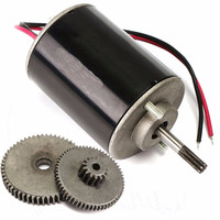 36W DC 12V 24V Small Wind For Turbine Generators Permanent Magnet Motor With Gear 108mm 4